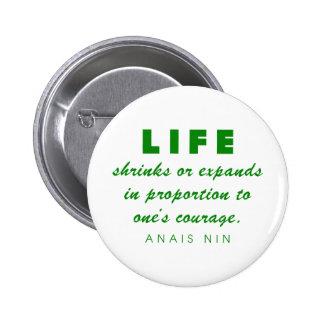 Nin on Courage 2 Inch Round Button
