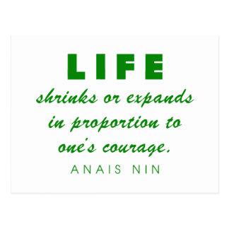 Nin on Courage Postcard