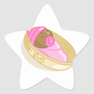 Niña 1 pegatina en forma de estrella