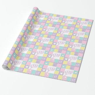 Niña agradable colorida papel de regalo