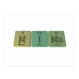 Nina  as Nitrogen Iodine Sodium Postcard