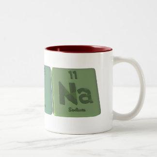 Nina  as Nitrogen Iodine Sodium Two-Tone Coffee Mug