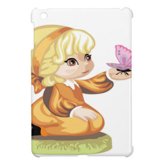 Niña cabelluda rubia iPad mini carcasa