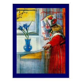 Niña con el iris azul