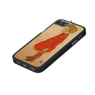 Niña de Egon Schiele- con el pelo rubio