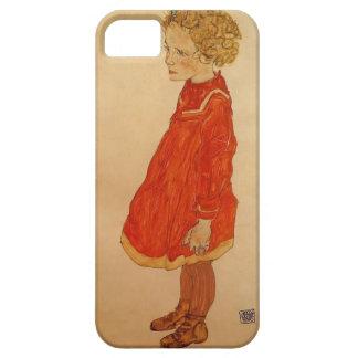 Niña de Egon Schiele- con el pelo rubio iPhone 5 Funda