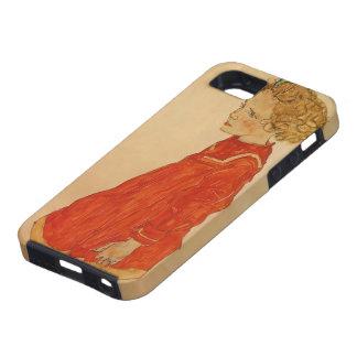 Niña de Egon Schiele- con el pelo rubio iPhone 5 Cárcasas