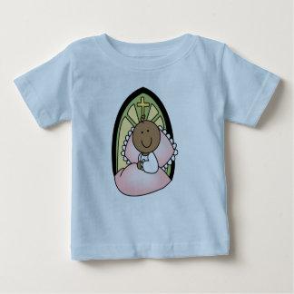 Niña del afroamericano del bautismo t-shirt
