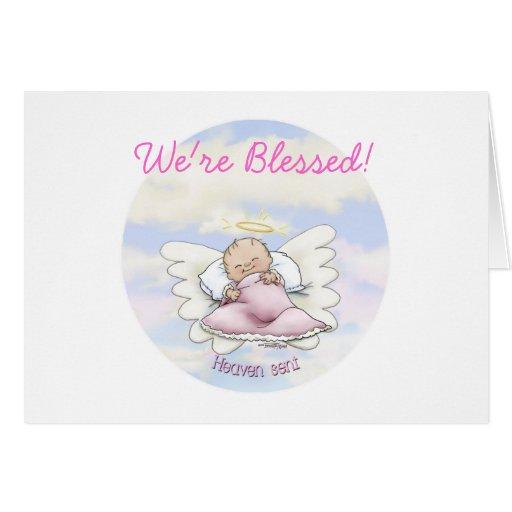 Niña del ángel - llovida del cielo felicitacion
