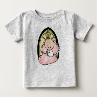 Niña del bautismo camisetas