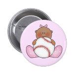 Niña del béisbol de Lil - étnica Pin