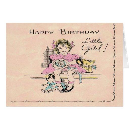 ¡Niña del feliz cumpleaños! Felicitación