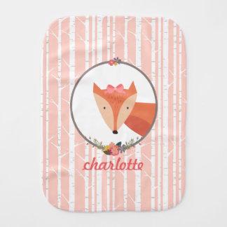 Niña del Fox personalizada Paños Para Bebé