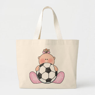 Niña del fútbol de Lil Bolsa Tela Grande