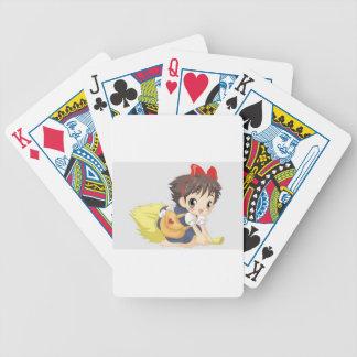 Niña deliciosa barajas de cartas