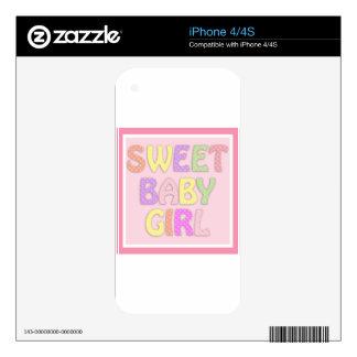 Niña dulce calcomanías para el iPhone 4