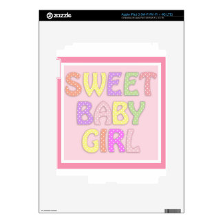 Niña dulce iPad 3 pegatinas skins