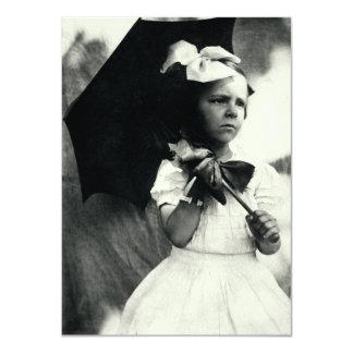 Niña dura 1905 invitación 11,4 x 15,8 cm