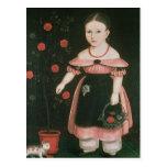 Niña en la lavanda, c.1840 postal