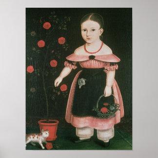 Niña en la lavanda, c.1840 póster