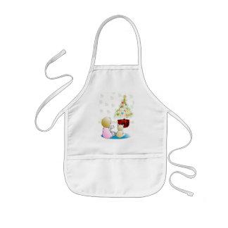 Niña en Nochebuena del camisón Delantal Infantil