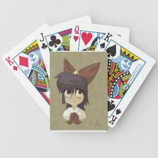 Niña en un arco cartas de juego
