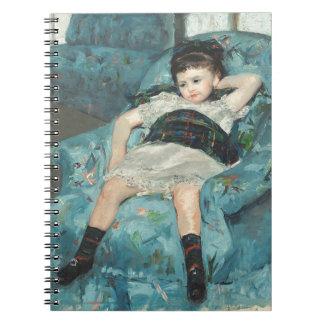 Niña en una butaca azul, 1878 (oi cuadernos