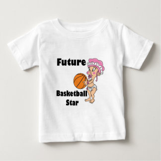 niña futura de la estrella del baloncesto playera