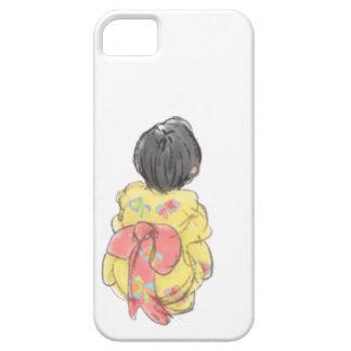 Niña japonesa del KIMONO de YUKATA iPhone 5 Case-Mate Carcasa