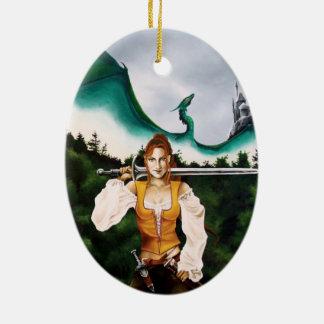 /Nina Kimberly the Merciless Ceramic Ornament