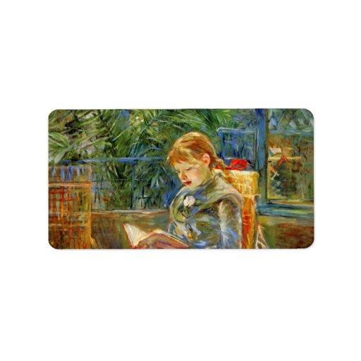 Niña, leyendo por Berthe Morisot Etiquetas De Dirección