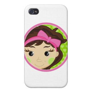 Niña linda iPhone 4 carcasas
