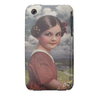 Niña linda iPhone 3 Case-Mate carcasas