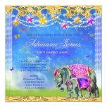 Niña mágica del elefante asiático de la invitaciones personalizada