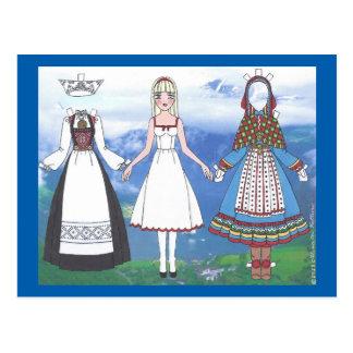 Nina of Norway Paper Doll Postcard