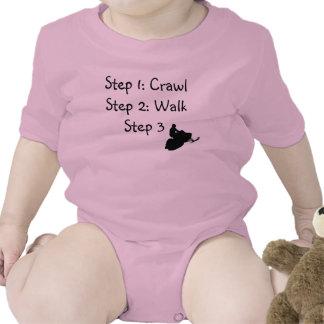 """Niña pequeña (arrastre rosado, paseo, paseo """" traje de bebé"""