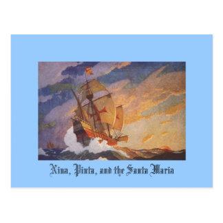 Nina Pinta y la Santa María Tarjetas Postales
