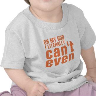 Niña que no puede incluso camiseta