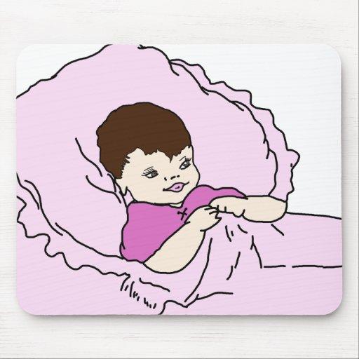 niña rosada alfombrilla de ratón
