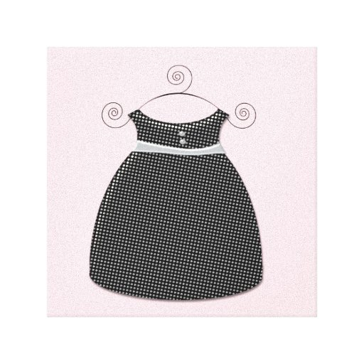 Niña rosada y negra del vestido caprichoso lienzo envuelto para galerias