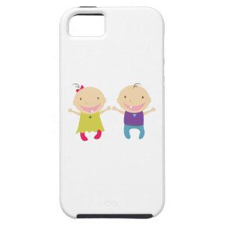 Niña y muchacho iPhone 5 fundas