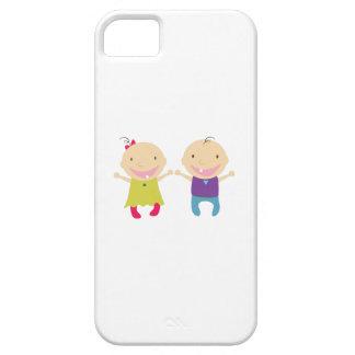 Niña y muchacho iPhone 5 Case-Mate carcasa