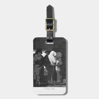 ¡Niñas de los pobres de Francisco Goya-! Etiqueta De Equipaje