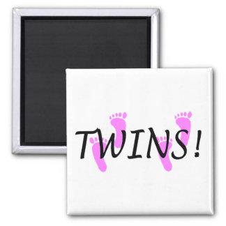 Niñas gemelas iman para frigorífico