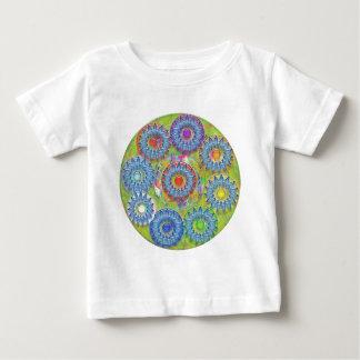 Nine 3D Blue Stars - Color Dot in Center Tee Shirt