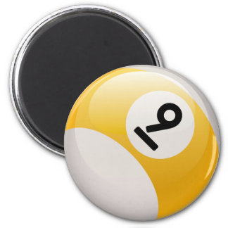 NINE BALL 2 INCH ROUND MAGNET