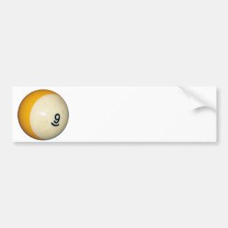 Nine Ball Car Bumper Sticker