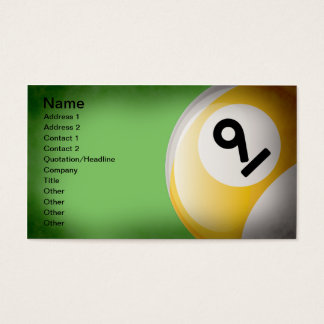 Nine Ball Business Cards