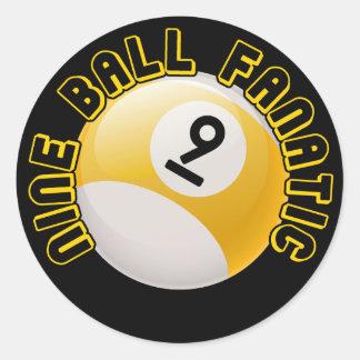 Nine Ball Fanatic Classic Round Sticker