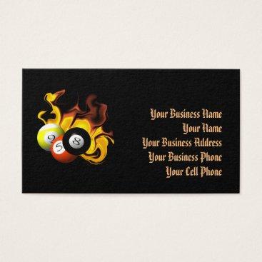 Beach Themed NINE BALL FIRE BUSINESS CARD